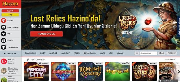 Hazino Casino Sitesi Tanıtım Görseli